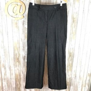 Loft Ann Trouser Jeans Black Wide Leg Pants